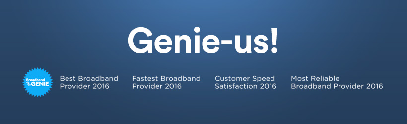 Broadband Genie awards image