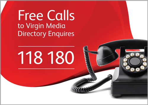 Free directory enquiries for virgin media customers bank