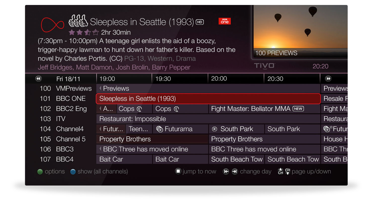 Virgin media tivo getting started your tv guide biocorpaavc Image collections