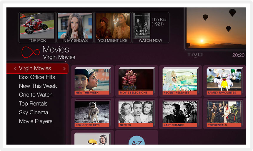 Virgin Media - On Demand and Catch Up
