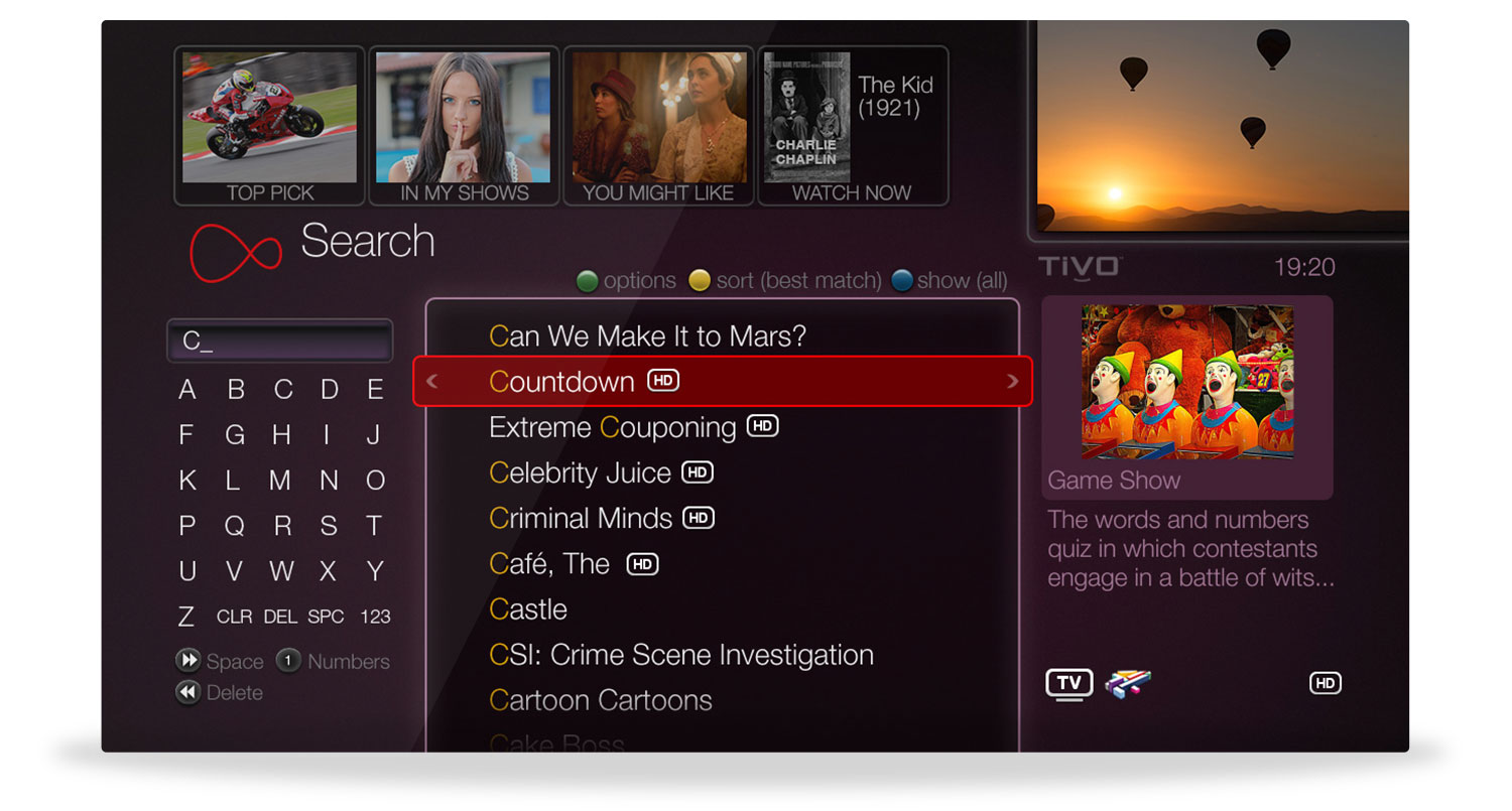 Virgin Media - Search and Discover